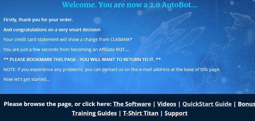 affiliate bots 2.0 members area screenshot