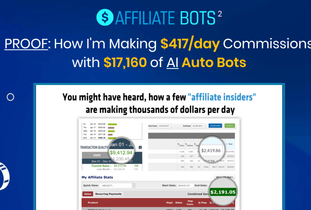 affiliate bots 2.0 review screenshot