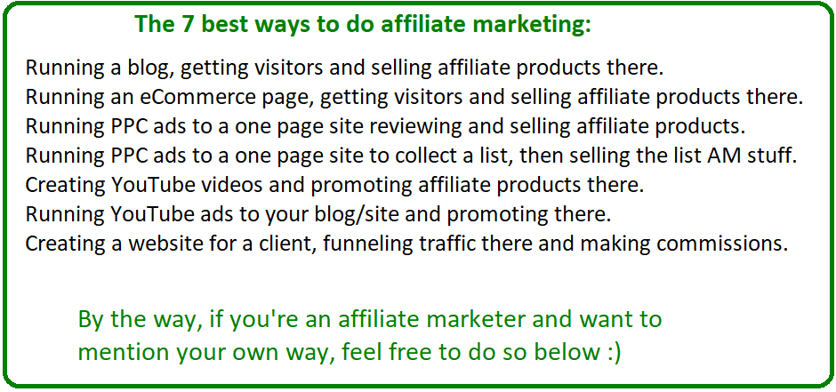 best ways to do affiliate marketing