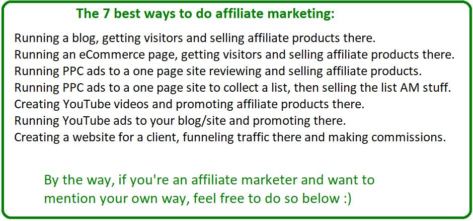 best ways to do affiliate marketing