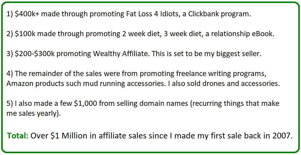 my affiliate sales stats