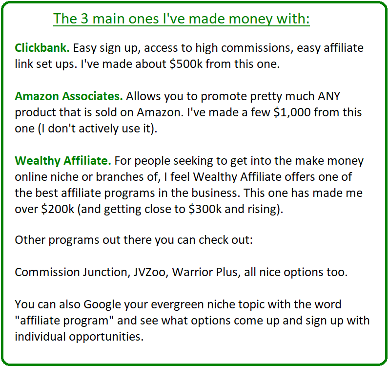 what are the best affiliate programs to make money with