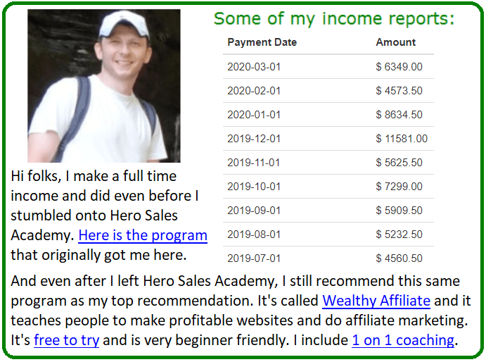 market hero sales academy alternative