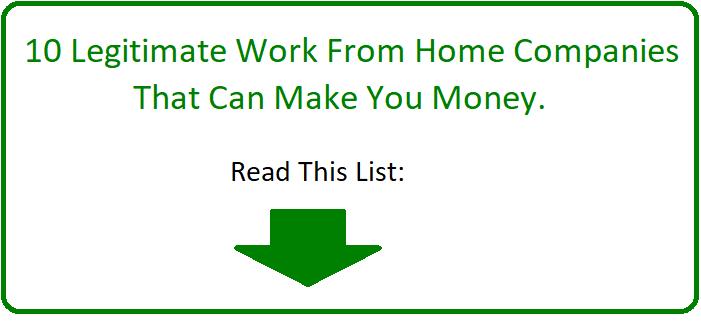 10 legitimate work at home companies