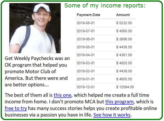 get weekly paychecks alternative