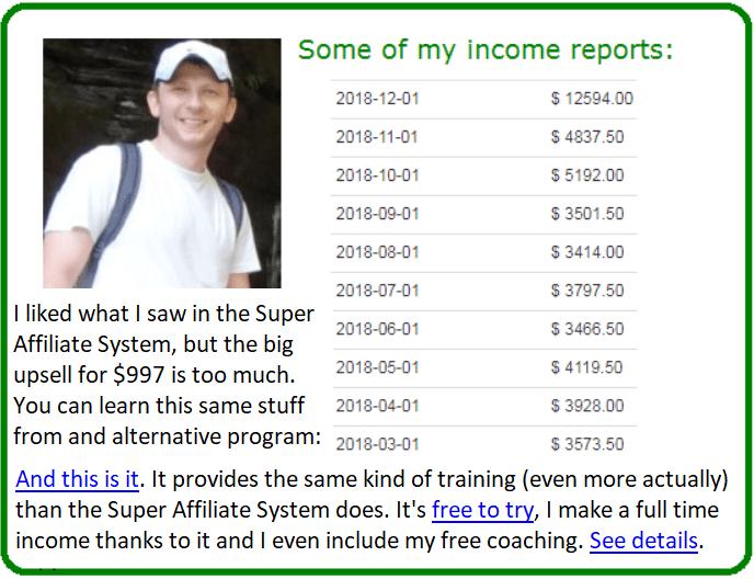 super affiliate system alternative