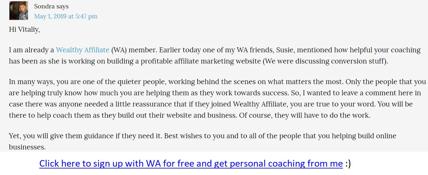 wa coaching feedback