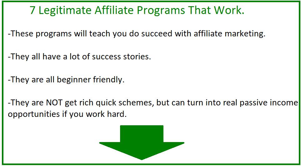 7 legit affiliate marketing programs