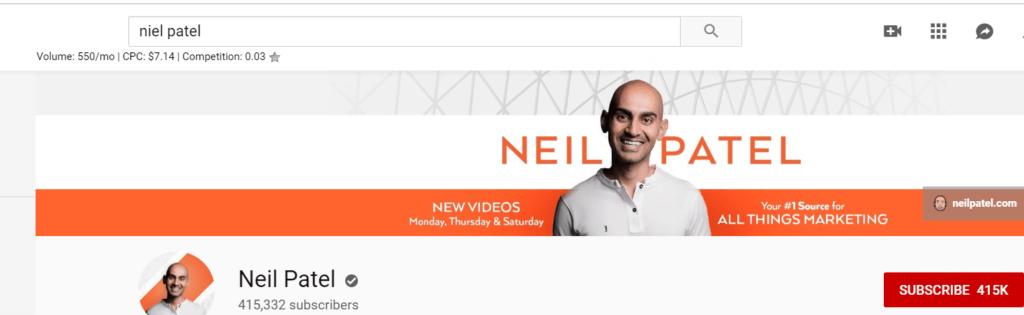 niel patel screenshot