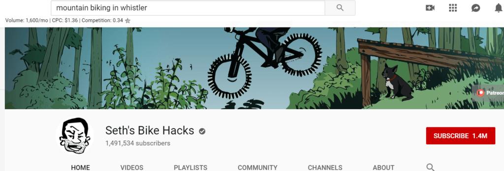seth's bike hacks screenshot