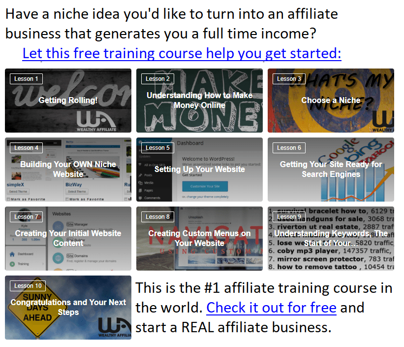 affiliate course preview