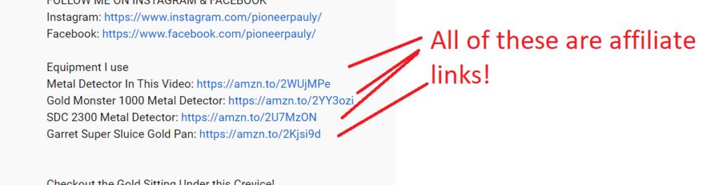 affiliate link examples screenshot