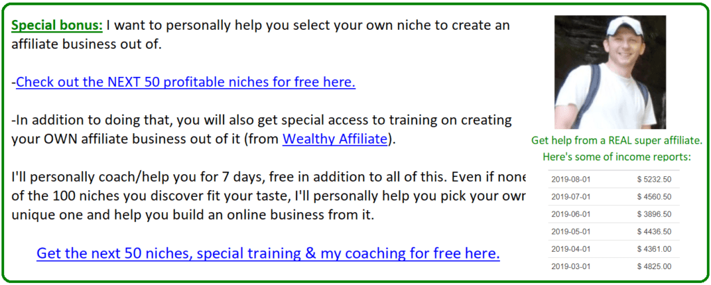 am training help and offer