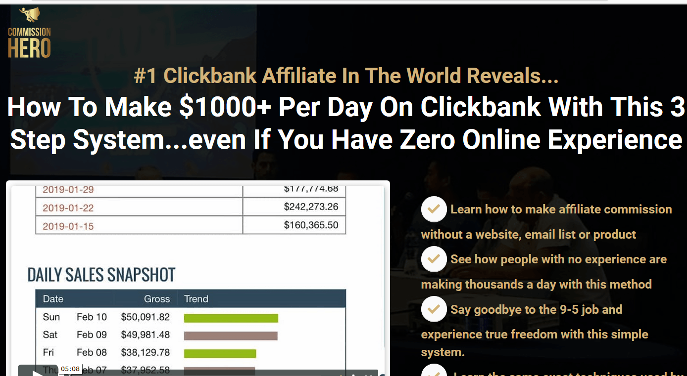 Deals On Affiliate Marketing Commission Hero