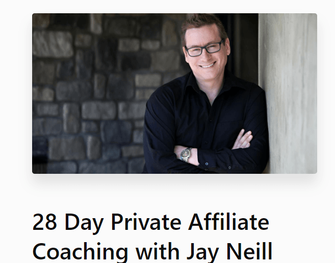 jay niell private coaching screenshot