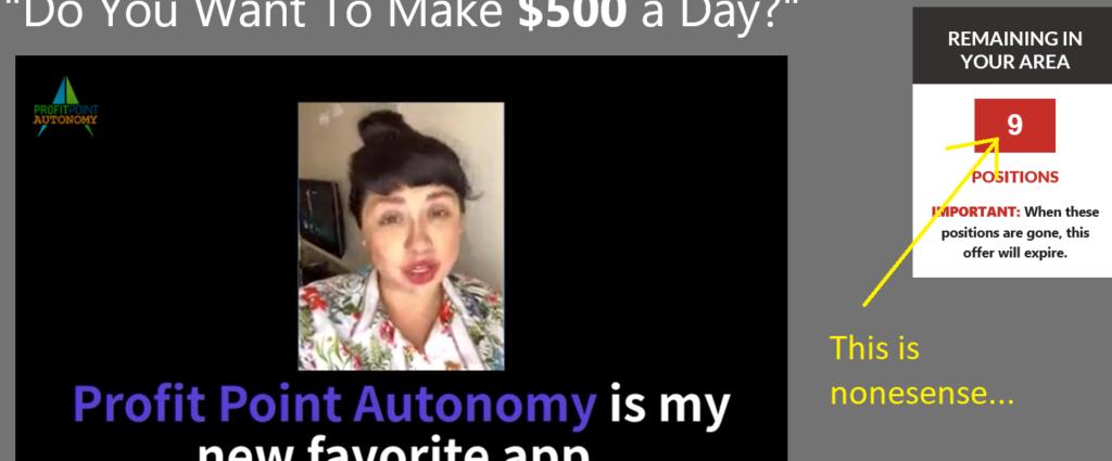 profit point autonomy screenshot