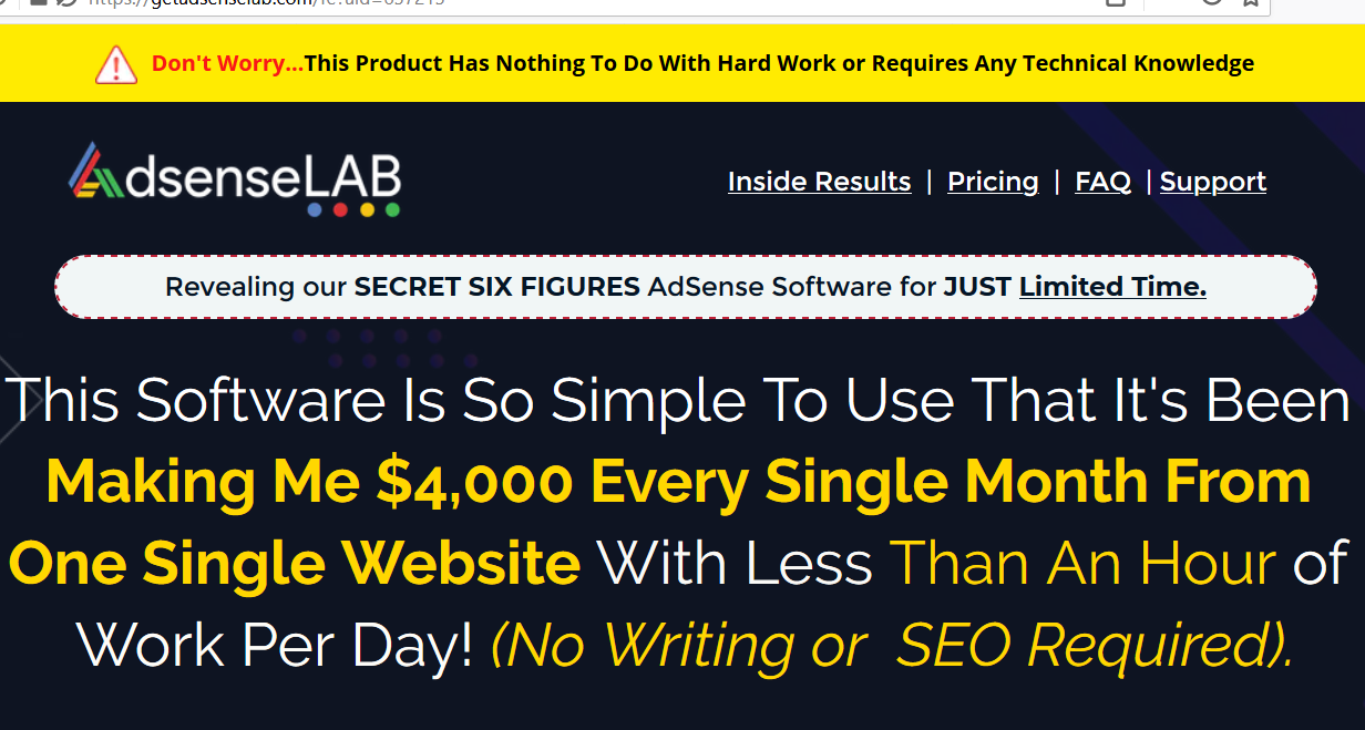 adsense labs review screenshot