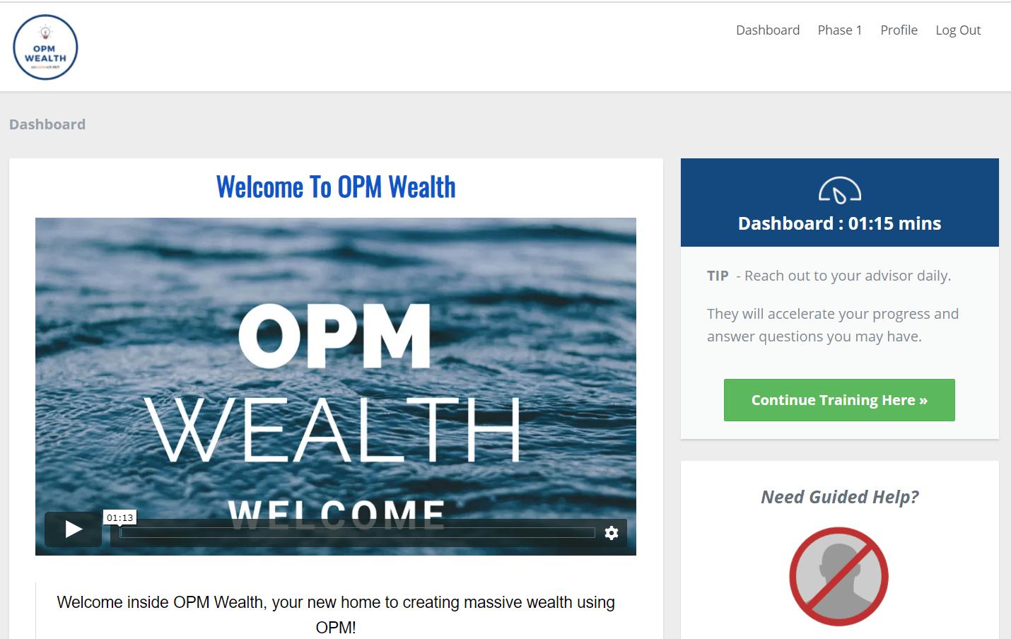 opm wealth members area